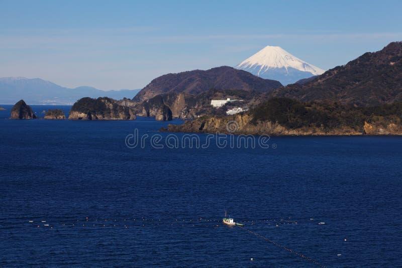 Halny Fuji i Japonia morze obrazy stock