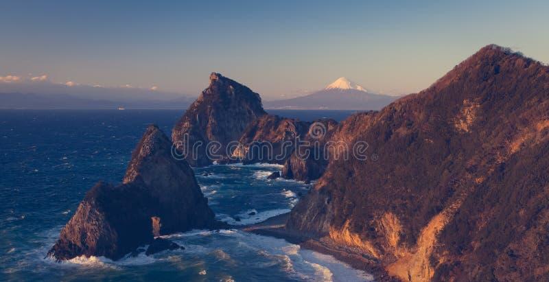 Halny Fuji i Japonia morze zdjęcia stock