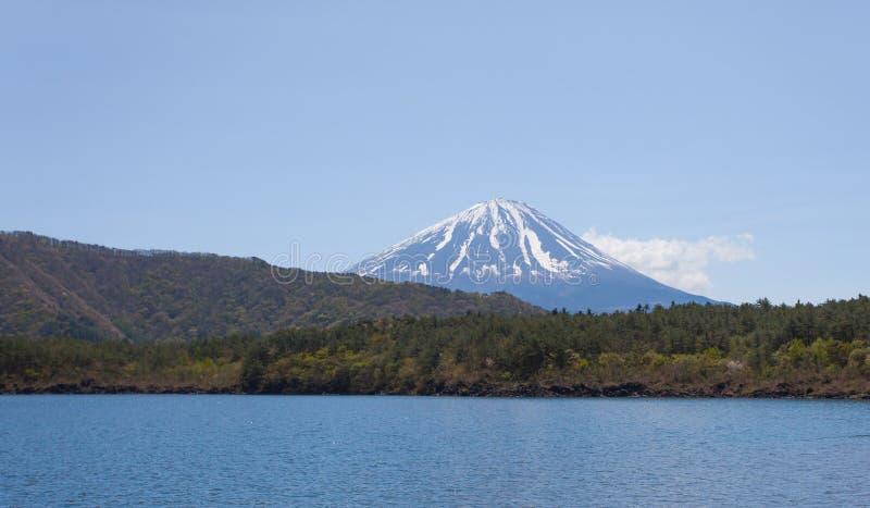 Halny Fuji Saiko i jezioro obrazy royalty free
