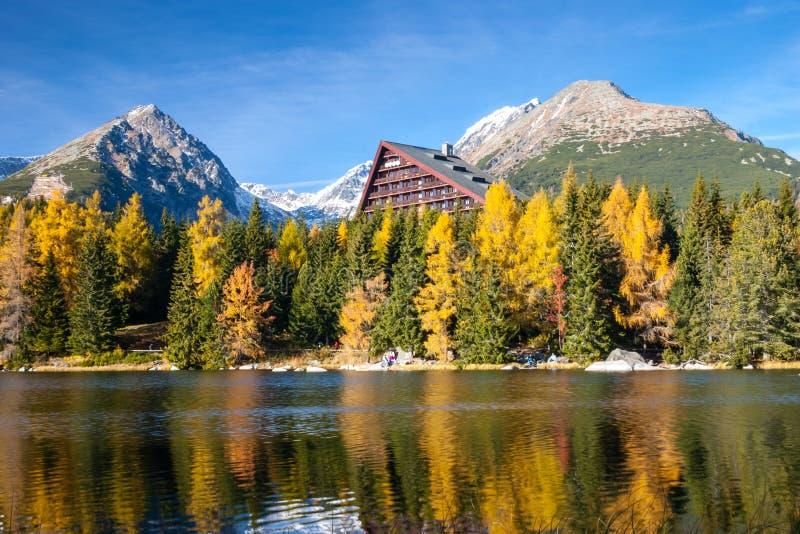 Halny jeziorny Strbske pleso, Wysoki Tatras, Sistani obrazy royalty free
