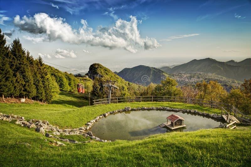 Halny jeziorny widok zdjęcie royalty free