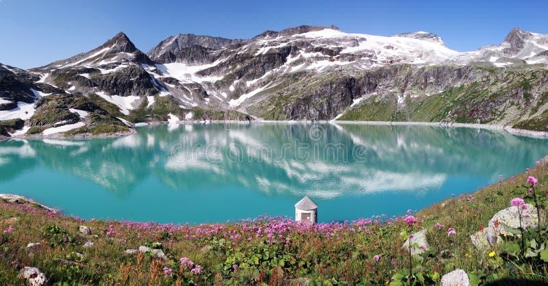 Halny jezioro w apls, Austria zdjęcie royalty free