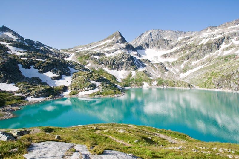 Halny jezioro w Austria zdjęcia royalty free