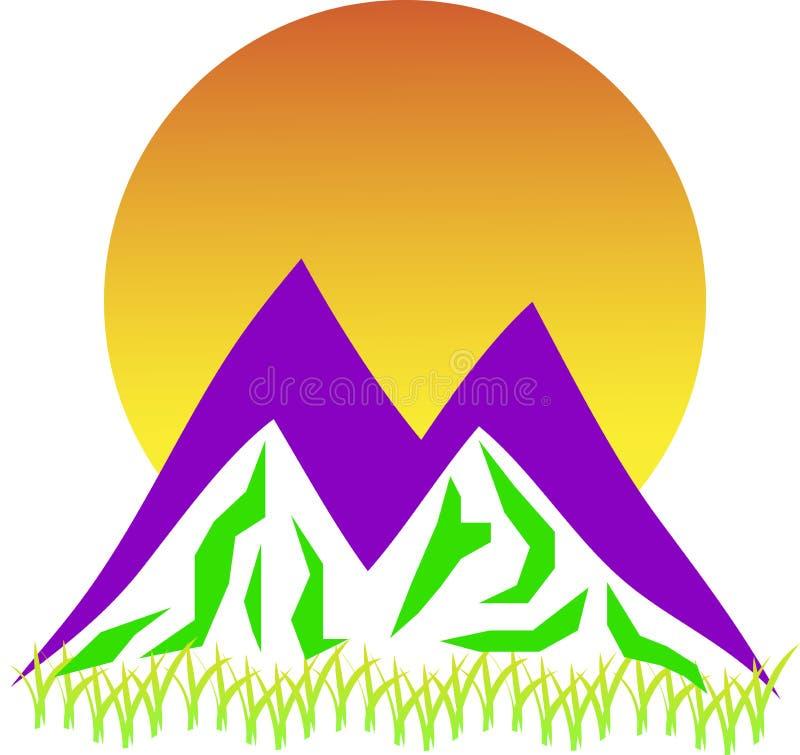Halny logo fotografia stock