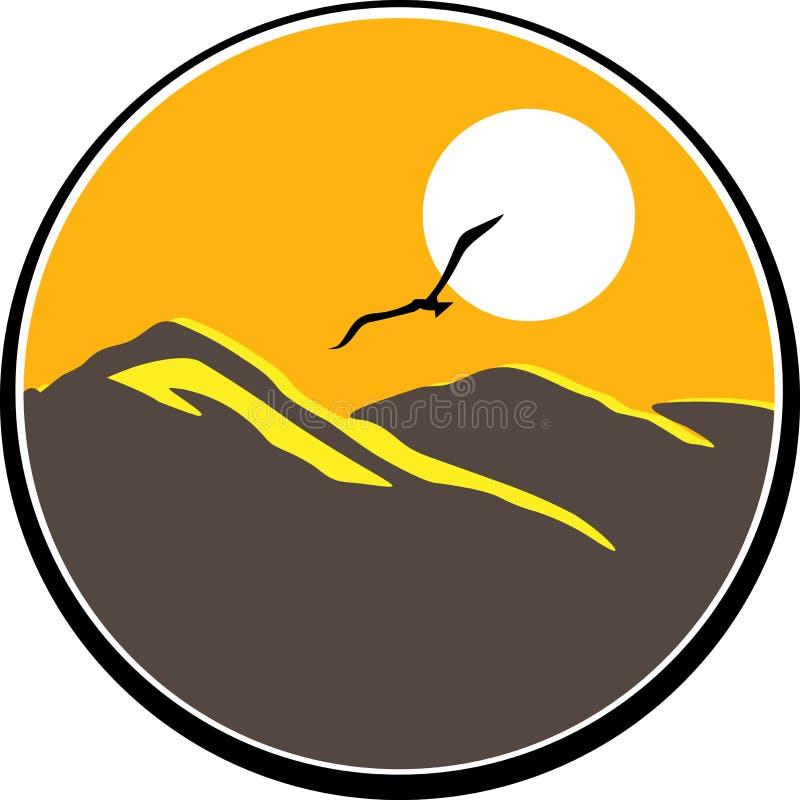 Halny logo royalty ilustracja