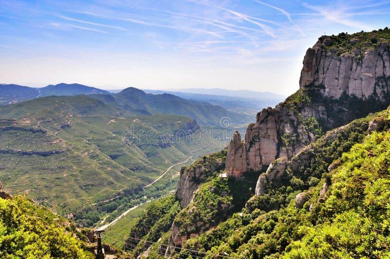 Halny masywny Montserrat zdjęcie royalty free