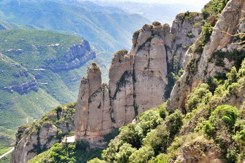 Halny masywny Montserrat fotografia stock
