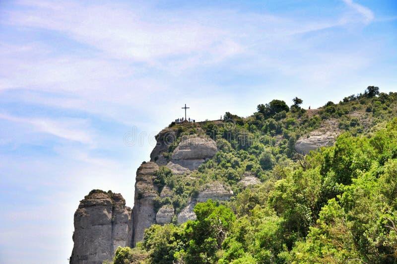 Halny masywny Montserrat obrazy royalty free