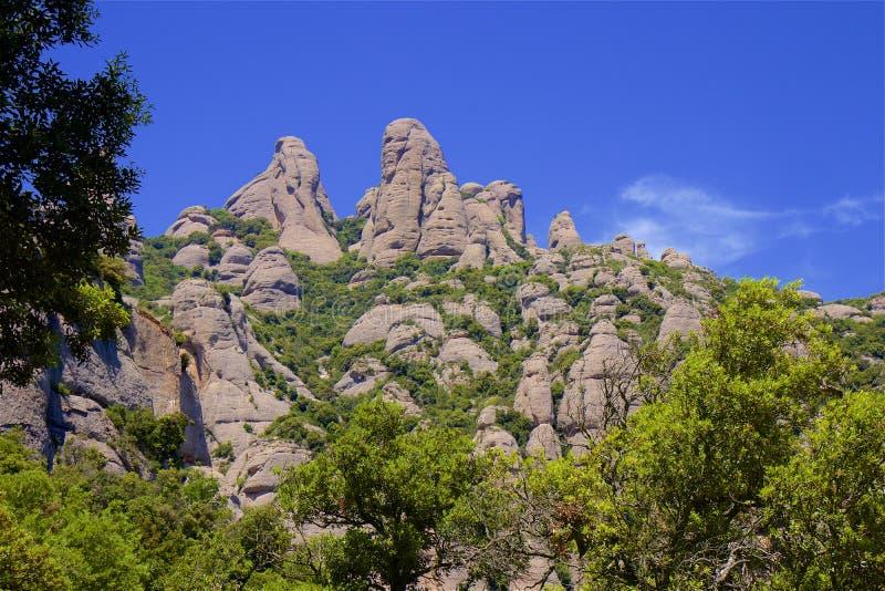 Halny Montserrat w Catalonia, Hiszpania zdjęcia stock