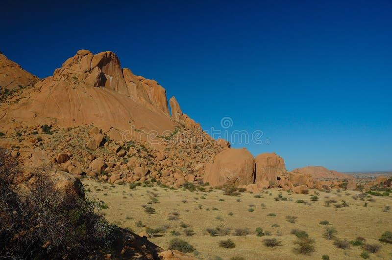 halny Namibia spitzkoppe fotografia stock