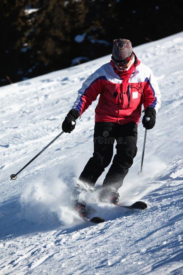 halny narciarstwo obrazy stock