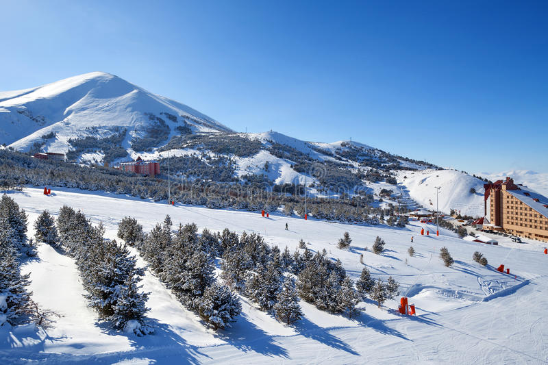 Halny narciarstwo, Palandoken, Erzurum obrazy stock