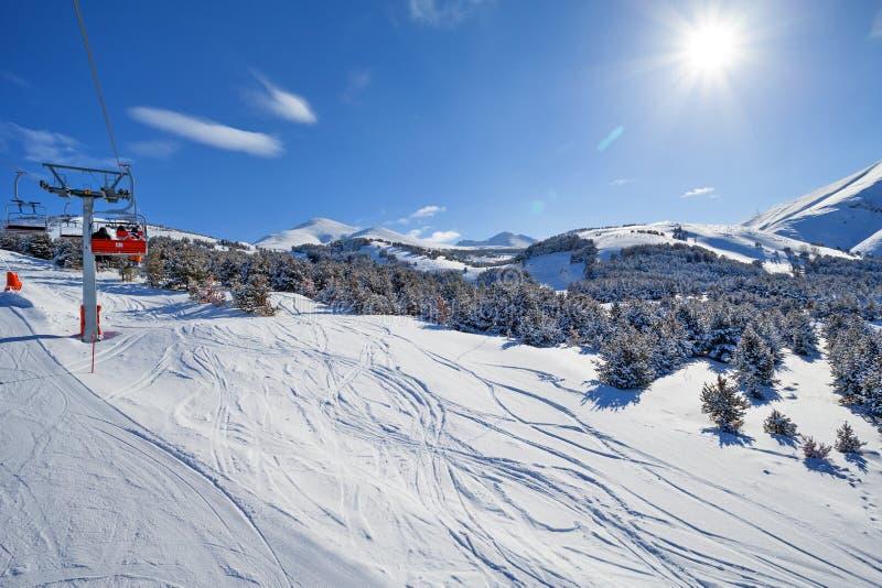 Halny narciarstwo, Palandoken, Erzurum zdjęcie royalty free