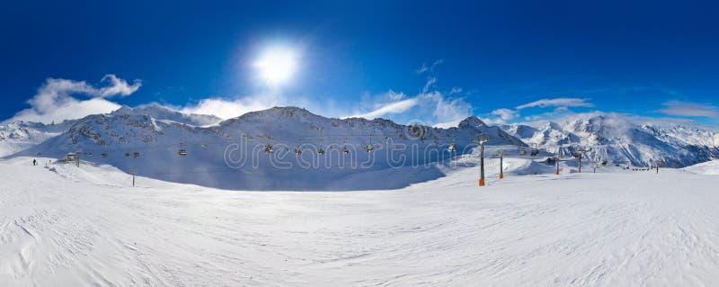 Halny ośrodek narciarski Hochgurgl Austria obrazy stock