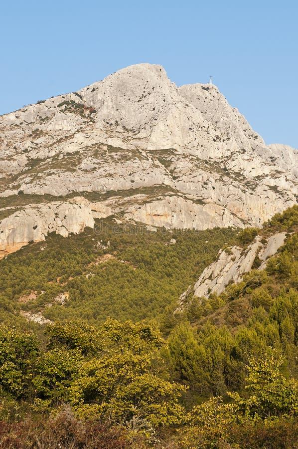 Halny Sainte Victoire fotografia stock