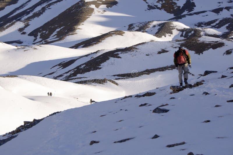 Halny trekking zdjęcia royalty free