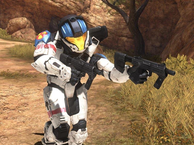Halo 3 behang royalty-vrije illustratie