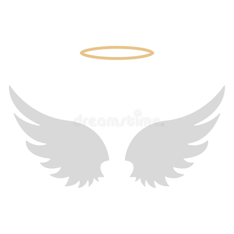 Halo and Angel Wings royalty free illustration