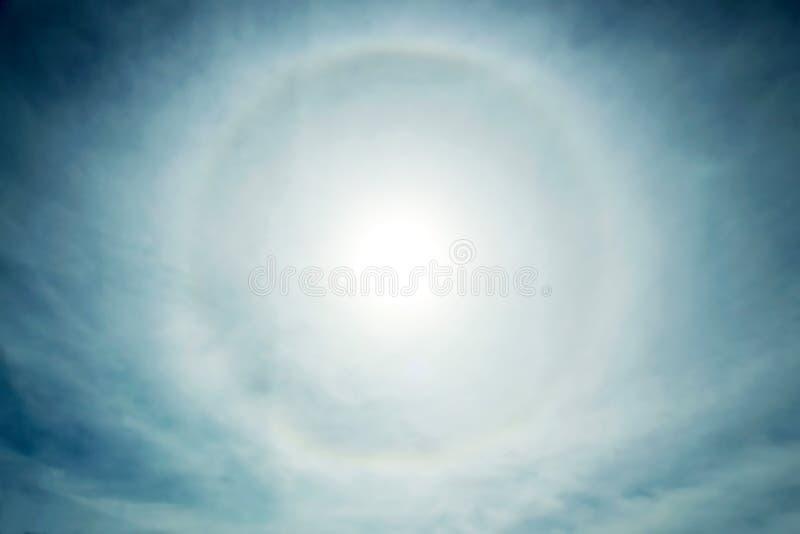 Halo, atmospheric phenomenon. In the sky stock photos