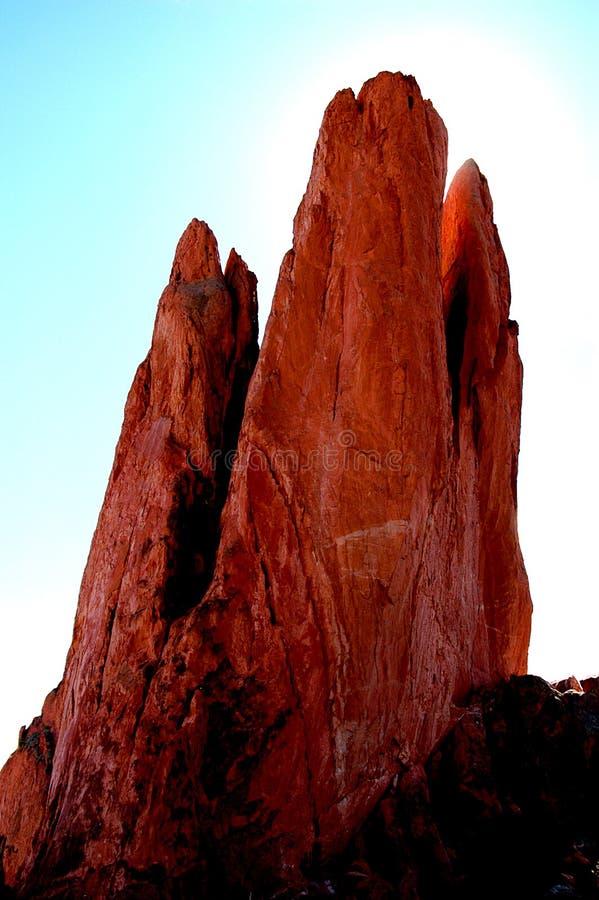Halo Auf Dem Felsen Stockbilder