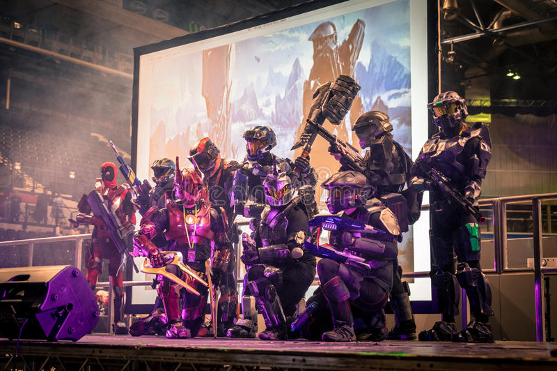 Halo Cosplay stockbild
