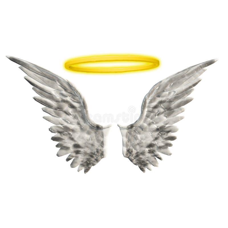 Halo das asas ilustração stock