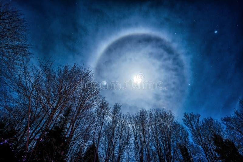 Halo de lune images libres de droits