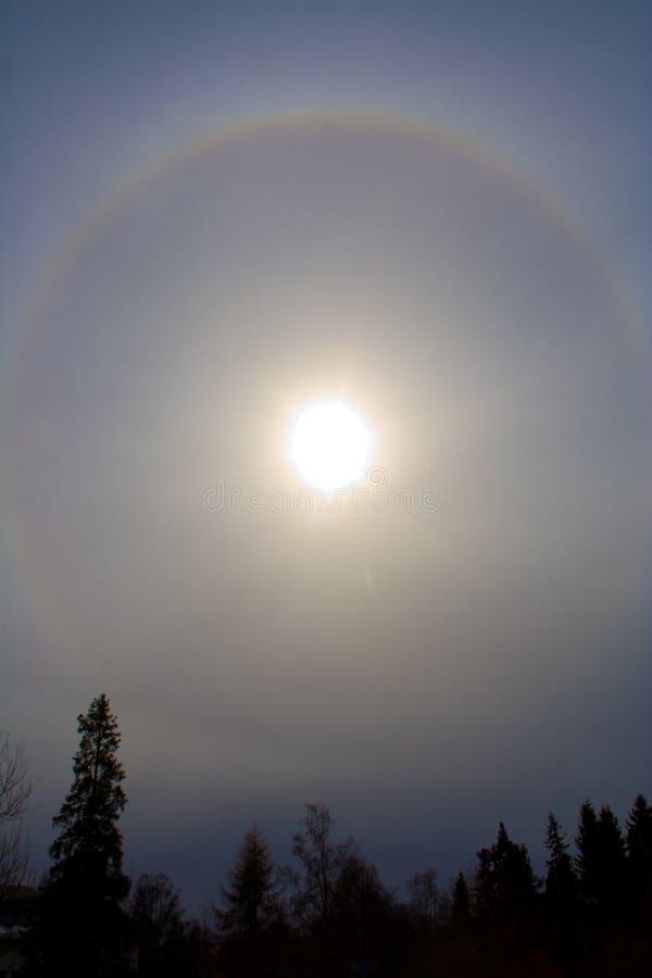 Halo de Sun photos libres de droits