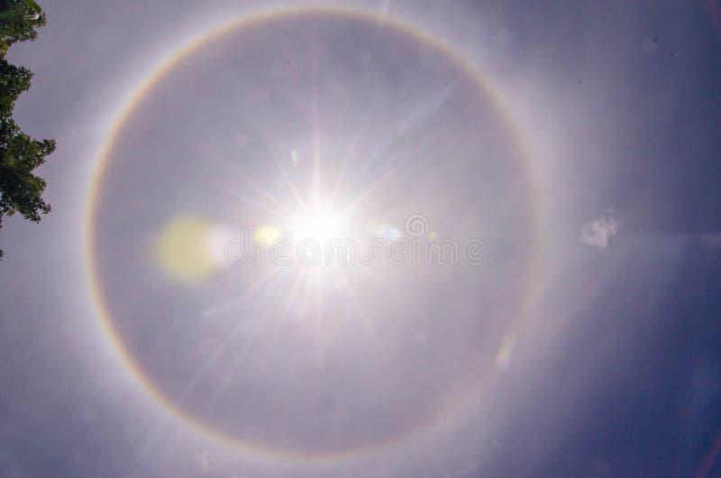Halo de Sun fotos de stock