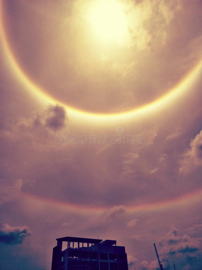 Halo de The Sun, couronne du soleil images libres de droits