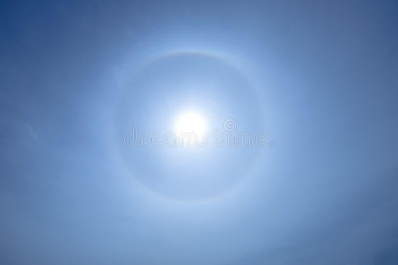 Halo de Sun no oceano do sul fora da costa de Austrália fotografia de stock