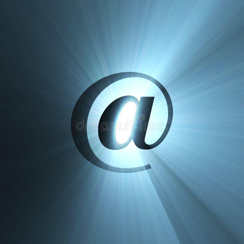 Halo-Leuchteaufflackern des Zeichens am blauen vektor abbildung