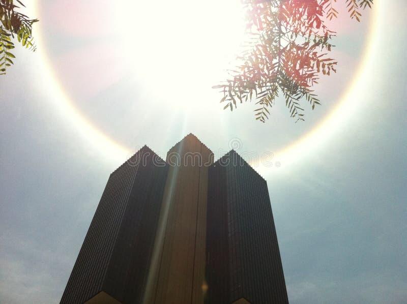 Halo Phenomenon. Around government building in Brasilia, Brazil royalty free stock images