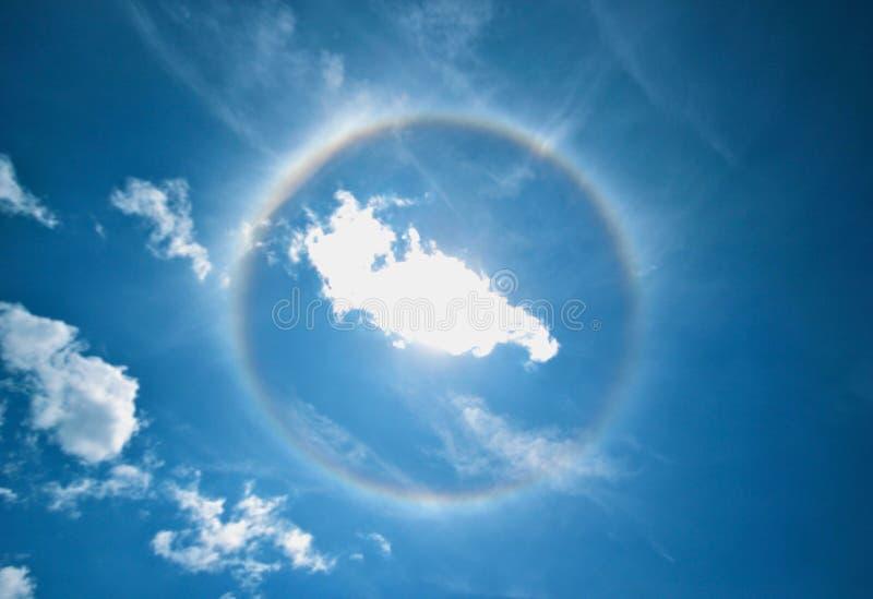 Halo solaire photo libre de droits