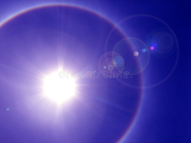 Halo solaire photographie stock