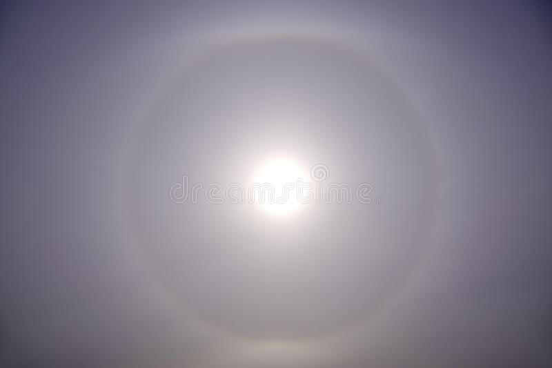 Halo solaire images stock