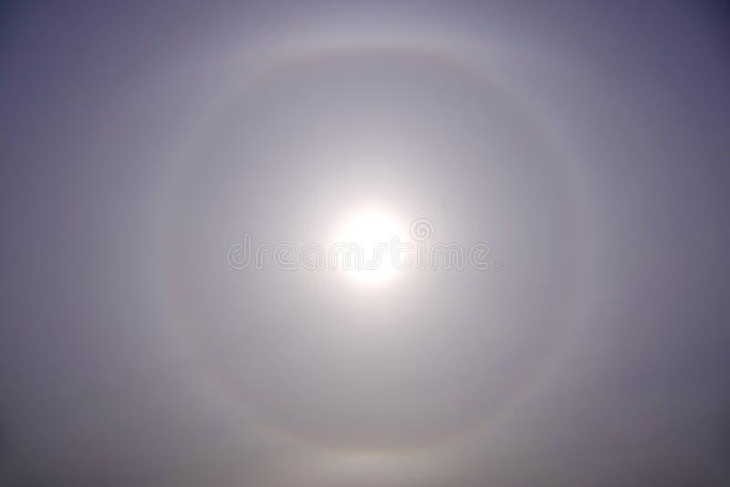 Halo solar imagens de stock