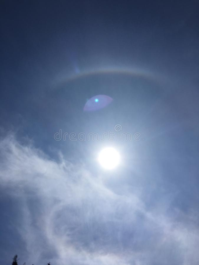 halo of the sun royalty free stock image