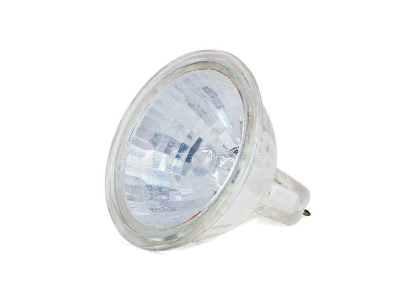 Halogeenlamp op witte achtergrond stock fotografie