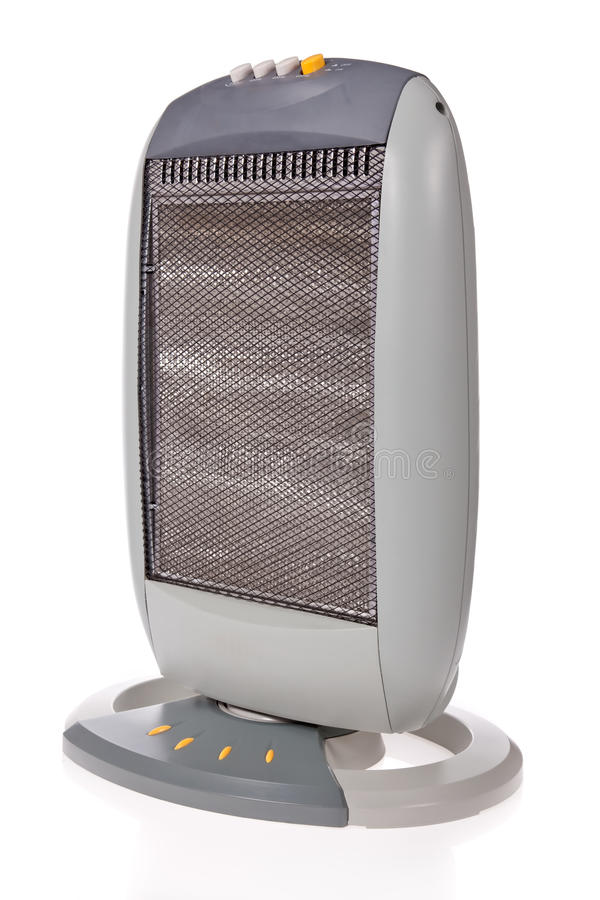 Halogen heater isolated on white royalty free stock photography
