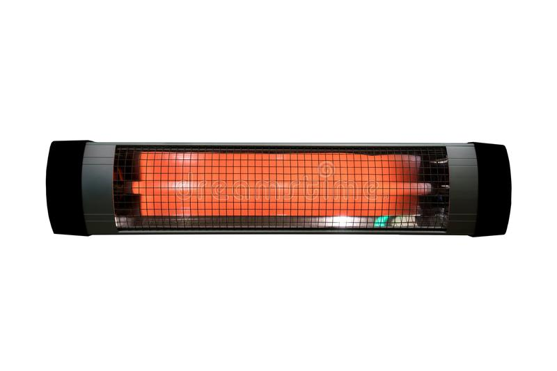 Halogen or Infrared heater isolated stock photography