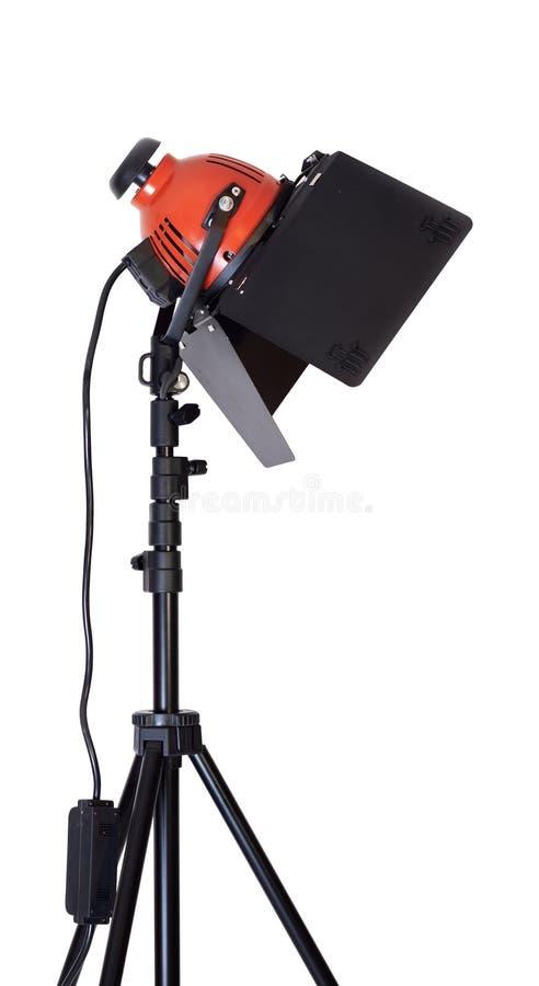 halogen isolerad lampa royaltyfria foton