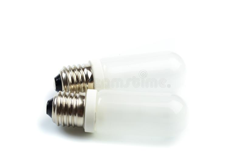 Halogen lamp on a white background. Lamp for studio flash close-up.- Image stock photography