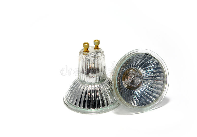Halogen Light Bulbs stock photo