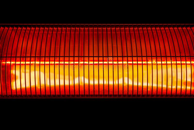 Halogen wall heater abstract close up shot stock photography