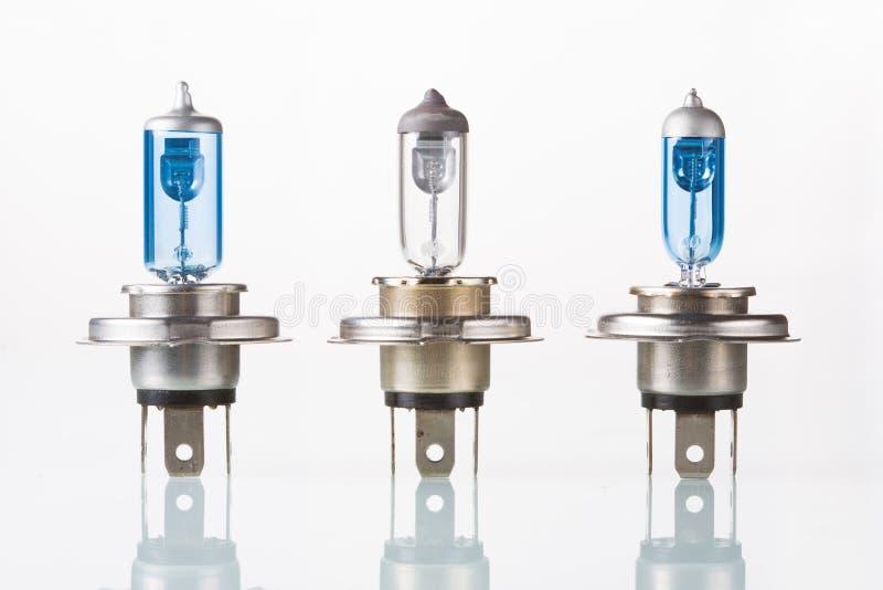 Halogenautolampe, Isolat auf Weiß lizenzfreie stockfotos
