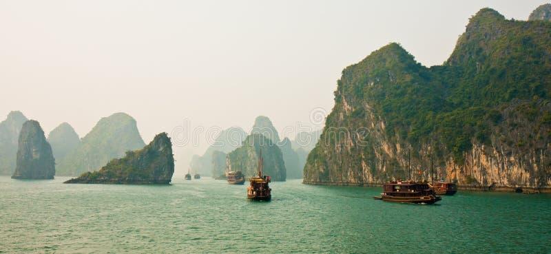 Download Halong Bay Panorama stock photo. Image of beautiful, mountain - 12923564