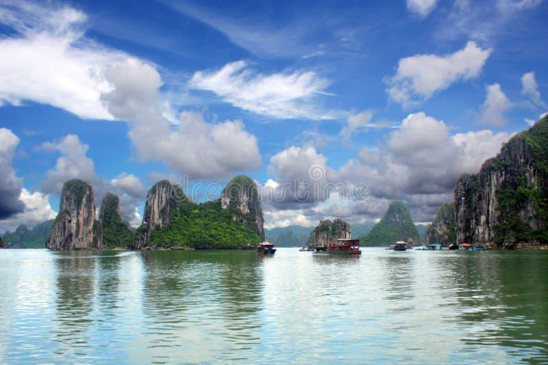 Download Halong Bay Scene stock image. Image of boat, reflection - 4482621