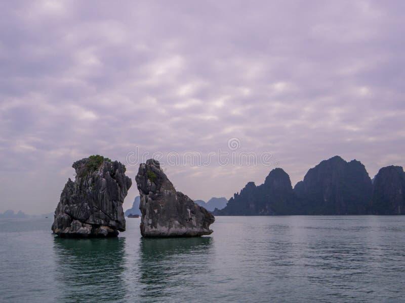 Halong Bay, Vietnam. Scenic landscape in Halong Bay, Vietnam stock image