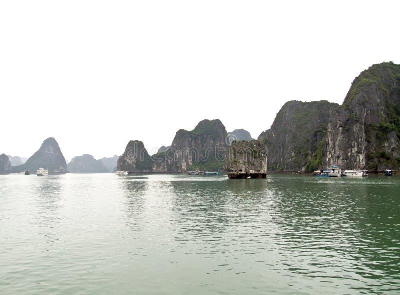 Halong Bay, Vietnam. Unesco World Heritage Site. stock photo
